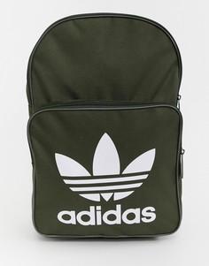 Рюкзак цвета хаки с трилистником adidas Originals - Зеленый