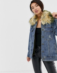 Джинсовая oversize-куртка Blank NYC Group Love - Синий