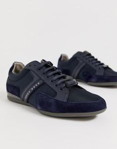 Темно-синие кроссовки с логотипом BOSS Spacit - Темно-синий