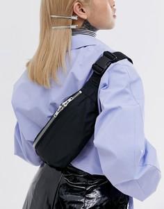 Маленькая черная сумка на плечо Weekday Resort Capsule - Черный