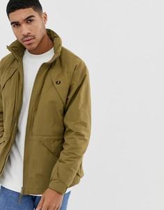 Куртка цвета хаки со складывающимся капюшоном Fred Perry offshore - Зеленый