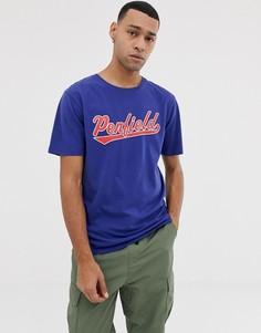 Синяя футболка с круглым вырезом и логотипом Penfield mendona - Синий