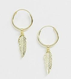 Серебряные позолоченные серьги-кольца Kingsley Ryan - Золотой