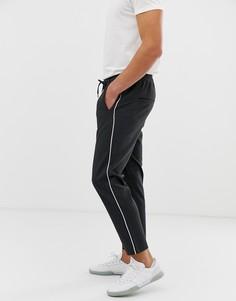 Зауженные брюки в полоску Jack & Jones - Серый