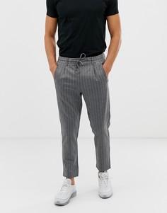 Зауженные брюки в вертикальную полоску Jack & Jones - Серый
