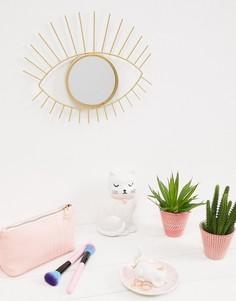 Золотистое зеркало в виде глаза Sass & Belle - Мульти