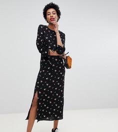 Платье миди с цветочным принтом Glamorous Tall - Черный