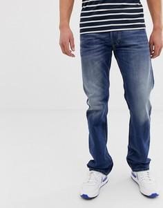 Светлые выбеленные джинсы прямого кроя Diesel Larkee 08XR - Синий