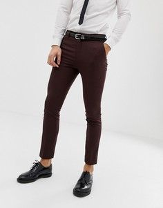 Бордовые зауженные брюки New Look - Красный