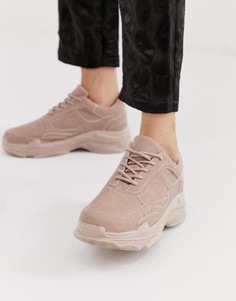 Розовые кроссовки на толстой подошве Public Desire Blend - Розовый