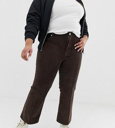 Коричневые укороченные расклешенные джинсы ASOS DESIGN Curve Egerton - Коричневый