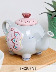 Эксклюзивный заварочный чайник с дизайном в виде слона Sass & Belle - Мульти