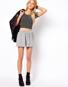 Серые меланжевые юбка‑шорты ASOS - Серый