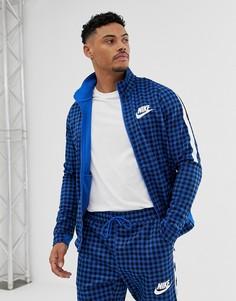 Синяя спортивная куртка в клетку Nike BQ0675-480 - Синий