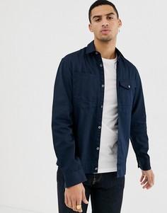 Рубашка навыпуск с карманом Jack & Jones Core - Темно-синий