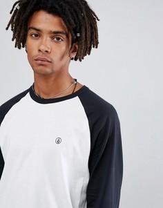 Белая футболка с длинными рукавами реглан Volcom - Белый