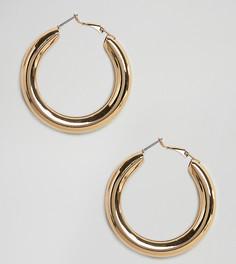 Золотистые массивные серьги-кольца Liars & Lovers - Серебряный