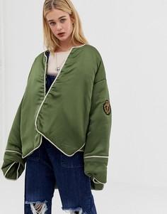 Оversize-куртка с нашивкой One Teaspoon - Зеленый