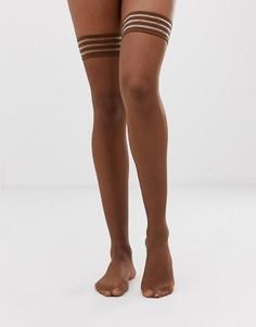 Матовые чулки темного телесного оттенка плотностью 10 ден Nubian Skin - Бежевый
