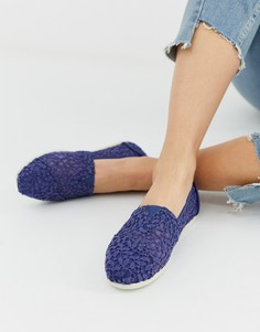 Туфли на шнуровке TOMS - Темно-синий