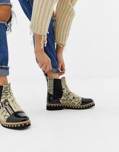 Ботинки челси с текстильным верхом Free People Atlas - Мульти