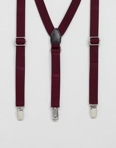 Бордовые подтяжки Twisted Tailor - Красный