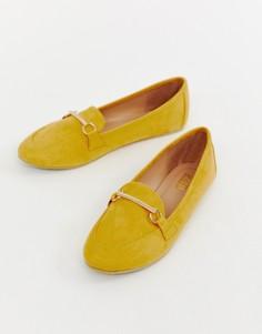 Туфли на плоской подошве горчичного цвета RAID Viera - Желтый