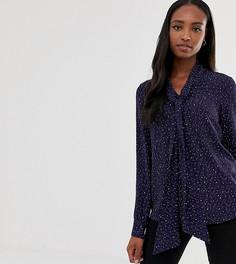 Блузка с принтом звезд и бантом Glamorous Tall - Темно-синий