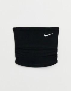 Черный флисовый шарф Nike Running - Черный