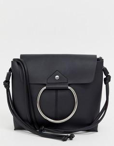 Кожаная сумка на плечо Melie Bianco - Черный