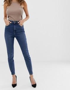 Синие джинсы скинни с завышенной талией ASOS DESIGN Recycled - Синий