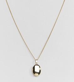 Ожерелье с овальной подвеской с покрытием из 18-каратного золота Shashi - Золотой
