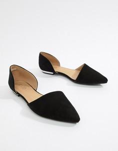 Черные туфли из двух частей на плоской подошве RAID Amy - Черный