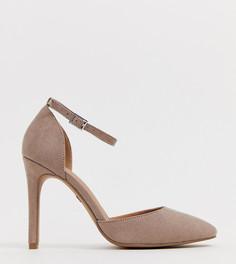Туфли на высоком каблуке для широкой стопы ASOS DESIGN - Бежевый