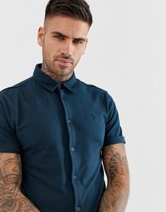Темно-синяя трикотажная футболка с короткими рукавами River Island - Темно-синий