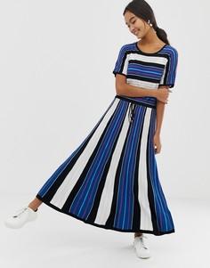 Платье в цветную полоску HUGO - Черный