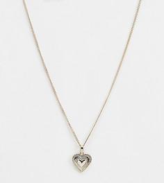 Золотистое ожерелье с сердцем Liars & Lovers - Золотой