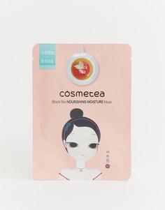Увлажняющая и питательная маска-салфетка на основе черного чая Cosmetea - Бесцветный