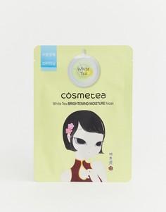Питающая маска-салфетка для сияющего лица с экстрактом белого чая Cosmetea - Бесцветный