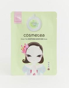 Успокаивающая маска-салфетка для лица с экстрактом зеленого чая Cosmetea - Бесцветный