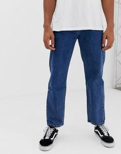 Темно-синие джинсы с широкими штанинами Pull&Bear Join Life - Синий