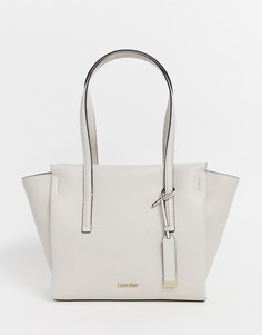 Сумка-шоппер среднего размера Calvin Klein - Кремовый