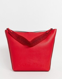Большая сумка для покупок Calvin Klein - Красный