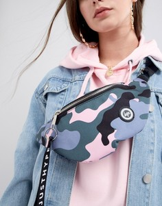 Сумка-кошелек на пояс с камуфляжным принтом Hype - Розовый