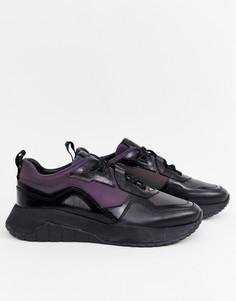 Черные переливающиеся кроссовки для бега HUGO Atom - Черный