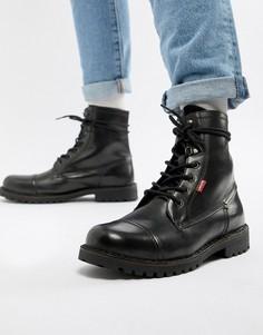 Черные кожаные ботинки Levis leavit - Черный Levis®