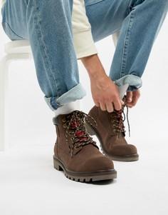 Темно-коричневые кожаные ботинки Levis Hodges - Коричневый Levis®