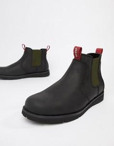 Черные кожаные ботинки челси Levis Jax - Черный Levis®