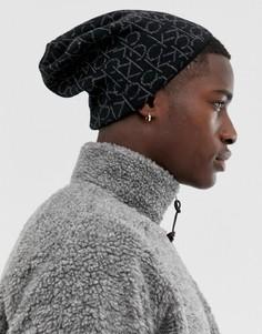 Шапка-бини с логотипом Calvin Klein - Черный