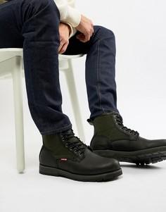 Черные кожаные ботинки с шерстяными вставками Levis logan - Черный Levis®